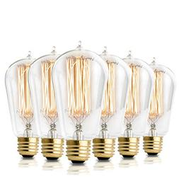 Vintage Incandescent Edison Light Bulbs: 60 Watt, 2100K Warm