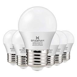 Hansang A15 LED Bulb Light 6 Watt ,E26 Standard Base,5000K D