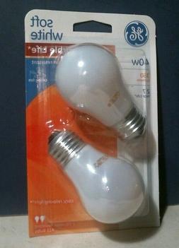 GE A15 Bulbs Soft White 40 Watt Vibration Resistant Ceiling