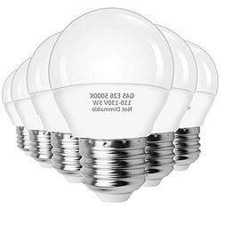 LEDERA A15 LED Bulbs 5W,LED Globe Bulb G45 , E26 Base Ceilin