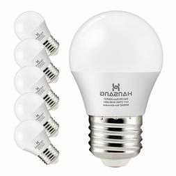 A15 LED Bulb Light 6 Watt ,E26 Base,G45 Bulb,Ra83 600lm 2700