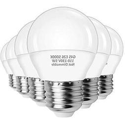 A15 LED Bulbs 5W, Globe G45 , E26 Base Ceiling Fan Light -