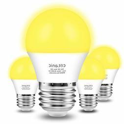 A15 Yellow LED Bug Light Bulbs, Cotanic Amber Warm Bulb, Out