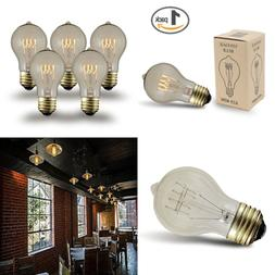 A19 Clear Traditional Vintage Filament Edison Light Bulb E26