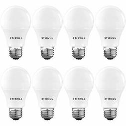 Luxrite A19 LED Light Bulb 60W Enclosed Fixture Rated 5000K