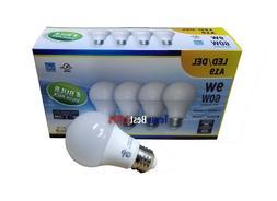 A19 LED LIGHT BULB, 9 WATT 4-PACK DIMMABLE 3K to 6K, 60W EQU