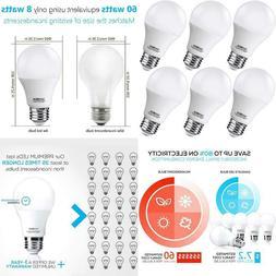A19 LED Light Bulbs 60 Watt Equivalent, SANSUN 3000K Soft Wh