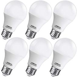 A19 LED Light Bulbs 60 Watt Equivalent, SANSUN 3000K Soft Wh
