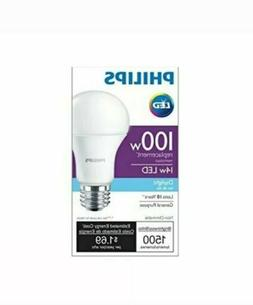 Philips 14W A19 5000K LED Non-Dimmable Light Bulb - 100w equ
