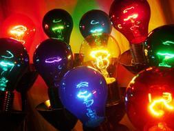 A19 Party Light Bulbs - Color Variety