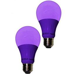 Sleeklighting LED A19 Purple Light Bulb, 120 Volt - 3-Watt E