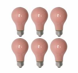 Pack Of 6 60 Watt A19 Soft Pink Incandescent Medium Base Lig