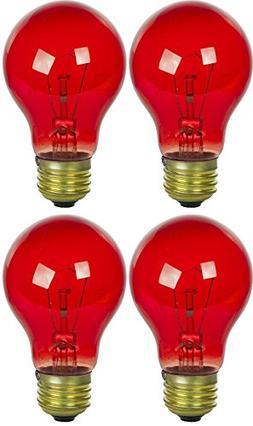 25-Watt A19 Transparent Red Incandescent Medium Base Party