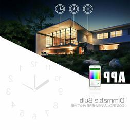 A19 Wifi Smart LED Light Bulb for Alexa Google Home App Remo