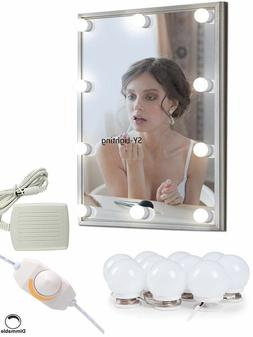 10LEDS Decorated Lamp Dimmable Bathroom Dressing Room Mirror