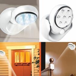 Adjustable LED Motion Light Activated Sensor Indoor Outdoor