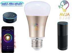Alva Smart WiFi Bulb Alexa Smart Phone Control Dimmable LED