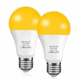 Amber Yellow LED Bug Light Bulb, ProPOW 7W Dusk To Dawn Bulb