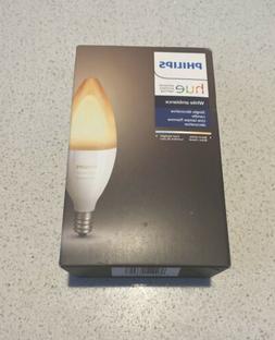 Philips - Hue White Ambiance E12 Wi-Fi Smart LED Decorative