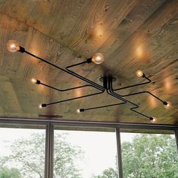 Antique Industrial Ceiling Light Steampunk Semi Flush Mount