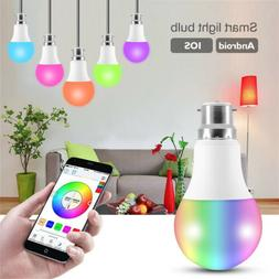 B22 Bluetooth Remote Color Changing RGB LED Light Bulb Voice