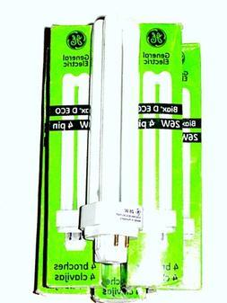 GE Biax D ECO 26W 4 Pin Compact Flourescent Lamp Bulb  F26DB