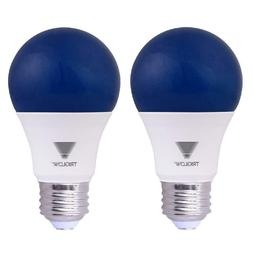 TriGlow Blue LED A19 Light Bulb, 9 Watt  Blue 2-Pack