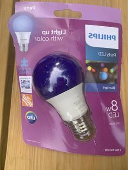 Philips Blue Light Bulb LED 8W Light Bulb Standard Base Poli