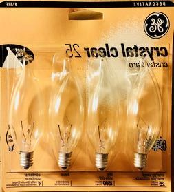 GE BOX 91805 Crystal Clear 25 Watt Decorative Candelabra Bul