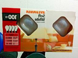Box A19 Sylvania 100W Incandescent Soft White Light Bulbs 10