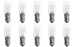 Box of 10 Bulbs 3T5.5 Incandescent 3 Watt 24V, T-5 1/2, E14