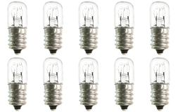 Box of 10 Bulbs 6T4.5 Incandescent 6 Watt 130V, T4.5, Candel