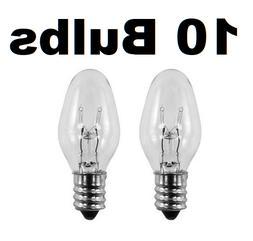7 Watt, C7 Night Light, 130 Volt, Clear, E12 Candelabra Base