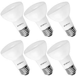 6-Pack BR20 LED Bulb, Luxrite, 45W Equivalent, 3500K Natural