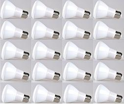 20-pack Bioluz LED Br20 LED Bulb 7w  2700K Warm White 550 Lu