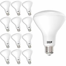 Sunco Lighting 12 Pack BR30 LED Bulb 11W=65W, 2700K Soft Whi