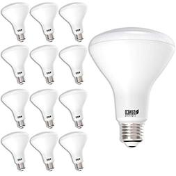 Sunco Lighting 12 Pack BR30 LED Bulb 11W=65W, 2700K Soft Whi