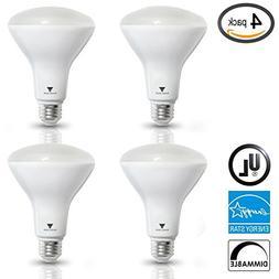 TriGlow  8-Watt  BR30 LED Flood Light Bulb, Dimmable, UL Lis