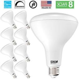 Sunco Lighting 8 Pack BR40 LED Bulb, 17W=100W, Dimmable, 270