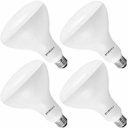 Luxrite BR40 LED Light Bulbs, 85W Equivalent, 3500K Natural