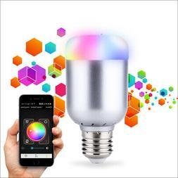 Brightness Adjustable RGBW LED Bulb Light Lamp 6W E27 Smart