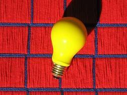 BUG yellow 60w LIGHT BULB 60 WATT 130V insect repellent A19