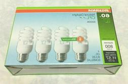 Sylvania Bulbs 60 Watts USES 13 Watts 4 Pack CFL NATURAL DAY