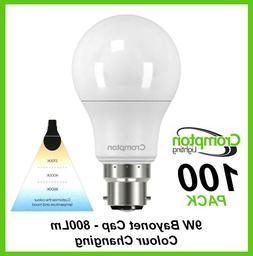 BULK LED 9W Light Globes Bulbs Bayonet Colour Changing Warm