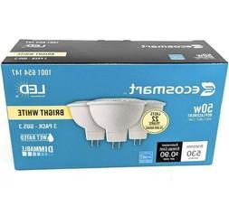 BUY MORE & SAVE EcoSmart 50W Bright White MR16 GU5.3 Dimmabl