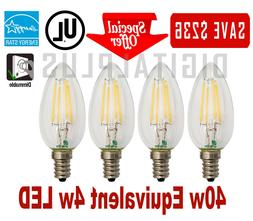 40W Replacement LED Light Bulb 40W Equivalent C12 E12 4 Watt