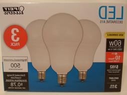 3 Pack LED CANDELABRA BASE small DAYLIGHT Feit 60W Equivalen