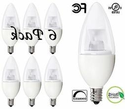 40 Watt Candelabra Bulbs, 5W Dimmable Candelabra LED Bulbs C