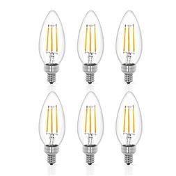 Tenergy LED Candelabra Bulbs Dimmable, 4W  Warm White Soft W