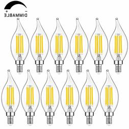 Candelabra LED Bulbs Dimmable 40W Equivalent, 2700K Warm Whi